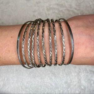 unbranded Jewelry - 💎BOGO FREE! Silver bangle layered bracelet!💎